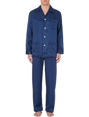DEREK ROSE Striped silk pyjama set