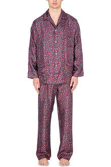 DEREK ROSE Otis paisley-print silk pyjamas