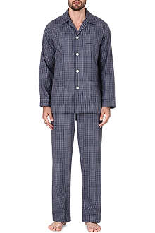 DEREK ROSE Ezra checked cotton pyjama set