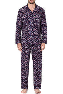 DEREK ROSE Nelson paisley cotton pyjama set