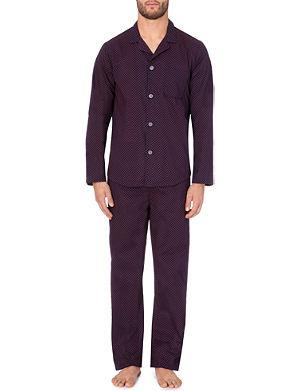 DEREK ROSE Infinity diamond-print cotton pyjamas
