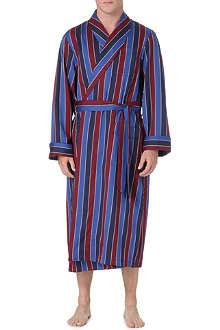 DEREK ROSE Elite stripe dressing gown