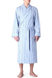 DEREK ROSE Striped dressing gown