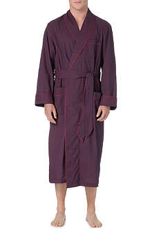 DEREK ROSE Arlo rose piped dressing gown