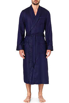 DEREK ROSE Lombard cotton dressing gown