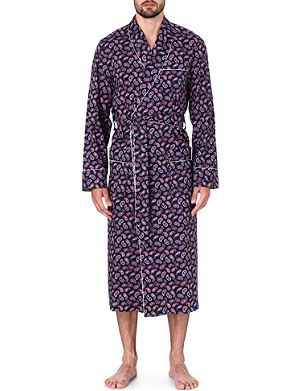 DEREK ROSE Nelson paisley cotton dressing gown