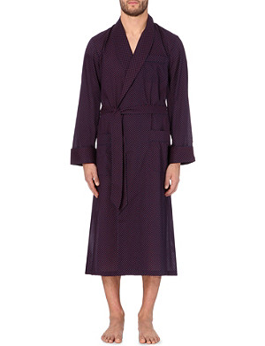 DEREK ROSE Infinity diamond-print cotton dressing gown