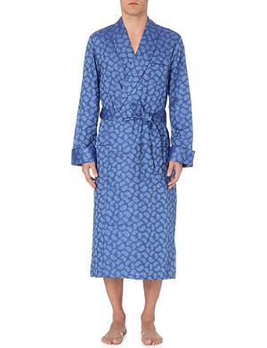 DEREK ROSE Tonal paisley cotton dressing gown