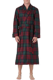 DEREK ROSE Tartan wool dressing gown