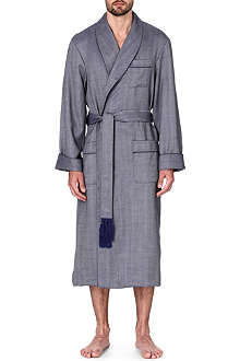 DEREK ROSE Lincoln wool dressing gown