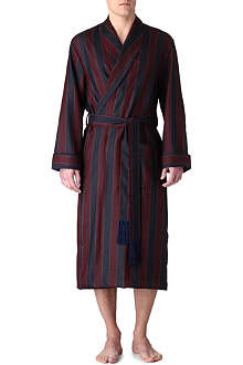 DEREK ROSE Striped wool robe
