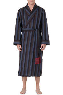 DEREK ROSE York piped wool dressing gown