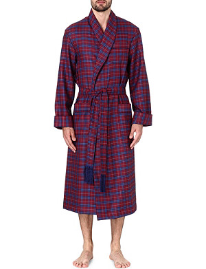 DEREK ROSE York wool dressing gown