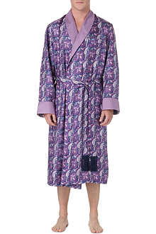 DEREK ROSE Otis paisley silk dressing gown
