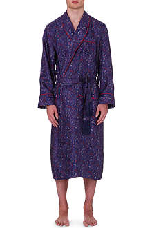 DEREK ROSE Silk dressing gown