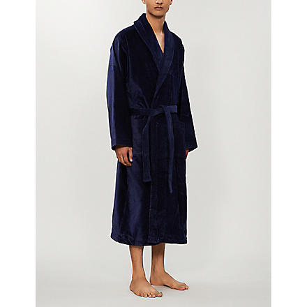 DEREK ROSE Tritan dressing gown (Navy