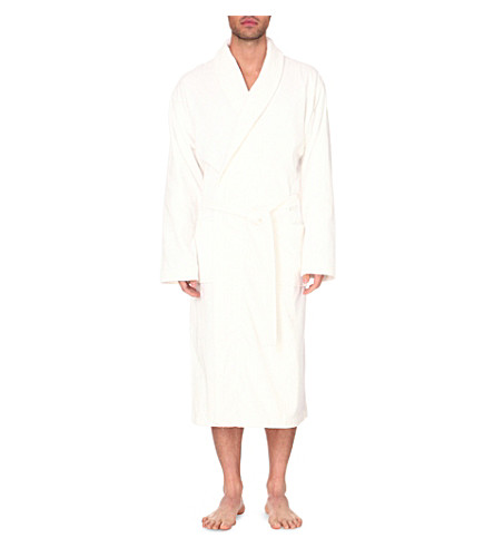 DEREK ROSE Tritan cotton dressing gown (White