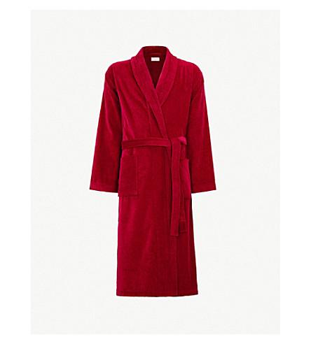 DEREK ROSE Tritan cotton dressing gown (Wine