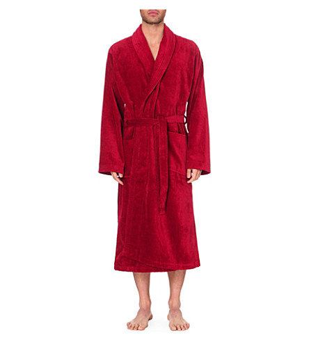 DEREK ROSE Tritan cotton dressing gown (Wine