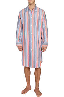 DEREK ROSE Arctic stripe cotton nightshirt