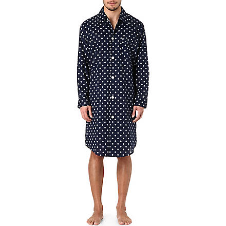 DEREK ROSE Nautical nightshirt (Navy