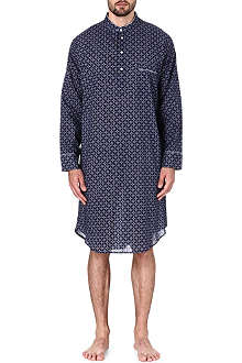 DEREK ROSE Arlo printed cotton nightshirt