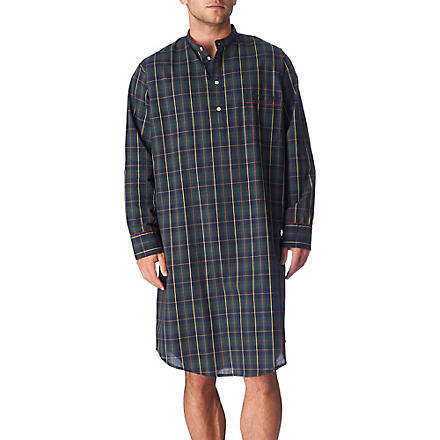 DEREK ROSE Checked nightshirt (Nav
