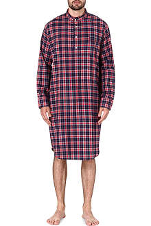 DEREK ROSE Ranga check cotton nightshirt
