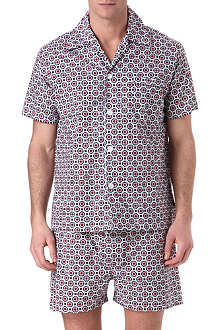DEREK ROSE Floral short cotton pyjamas
