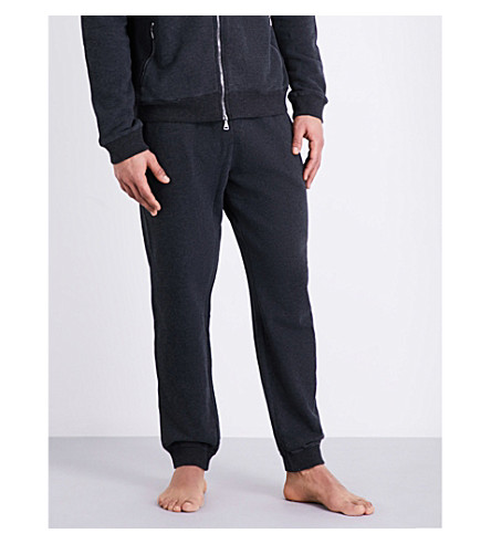 DEREK ROSE Devon cotton-jersey jogging bottoms (Charcoal