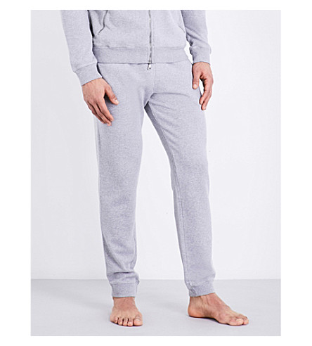 DEREK ROSE Devon cotton-jersey jogging bottoms (Silver