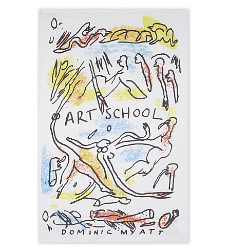 ART SCHOOL X DOMNIC MYATT Art School x Dominic Myatt cotton tea towel