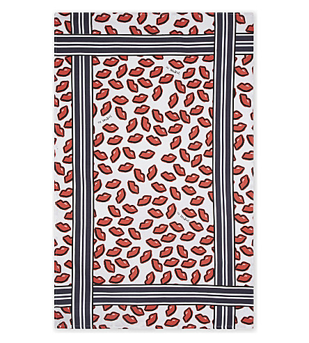 MARKUS LUPFER Markus Lupfer lip print cotton tea towel