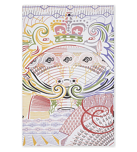 MARY KATRANZOU Mary Katrantzou swirl cotton tea towel