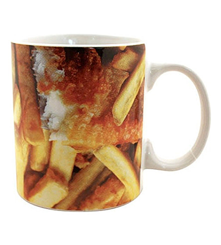 GIFT REPUBLIC Fish 'n' chips stoneware mug