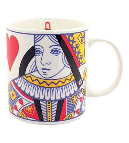 GIFT REPUBLIC Queen of Hearts stoneware mug