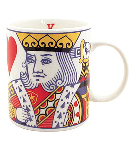 GIFT REPUBLIC King of Hearts stoneware mug