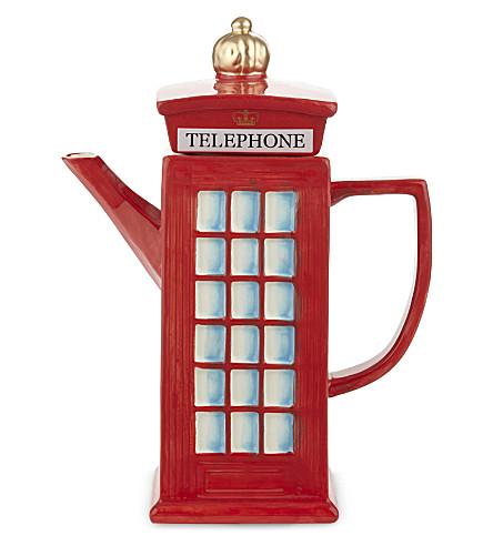 ELGATE Telephone Box ceramic teapot