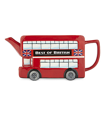 ELGATE London Bus ceramic teapot
