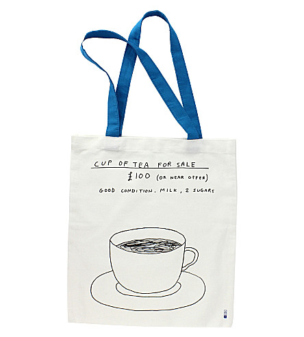 THIRD DRAW DOWN STUDIO David Shrigley cotton tote bag 38x42cm
