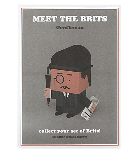 Meet the Brits cut-n-fold gentleman figure