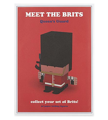 KONTOROUSIS BROS Meet the Brits cut-n-fold Queen's Guard figure