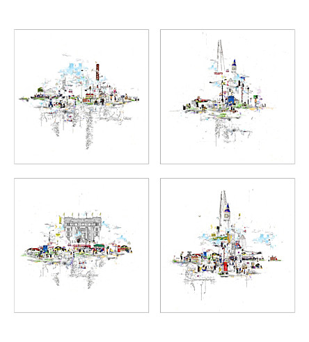 LAURA JORDAN London box of 22 x 22cm prints