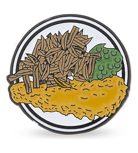 BEACH LONDON Fish and Chips badge