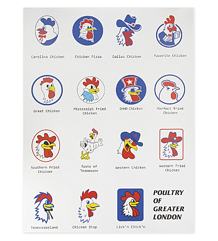 BEACH LONDON Poultry of Greater London poster 80x60cm