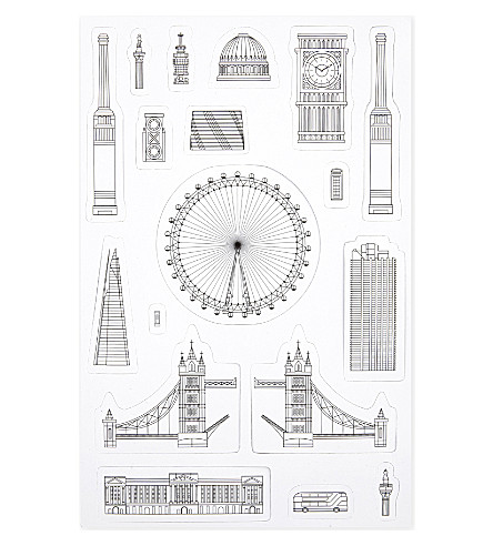 BEACH LONDON Iconic London fridge magnets set of 18