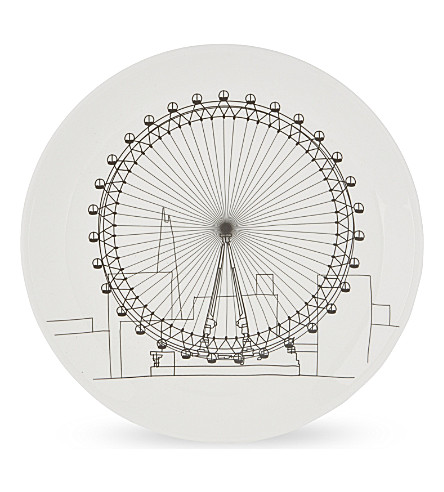 BEACH LONDON Toby Melville-Brown London Eye plate 20.8cm