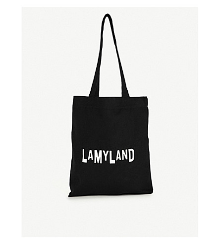 LAMY LAND Logo cotton-blend tote