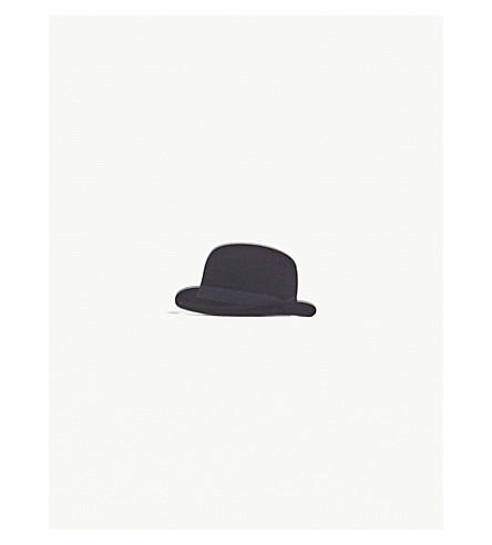 MY WORLD Bowler hat acrylic fridge magnet