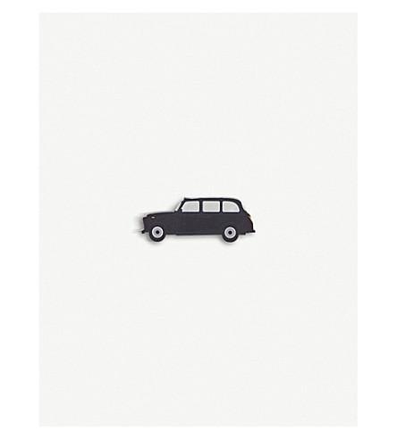 MY WORLD Black cab acrylic fridge magnet